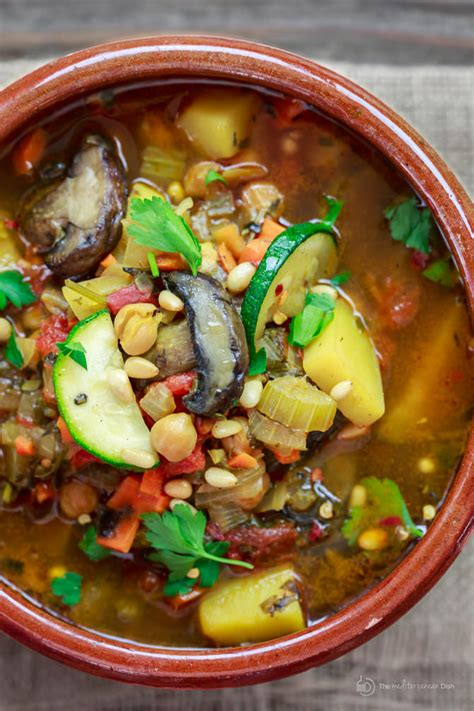 vegetables soup mediterranean style vegetable soup the