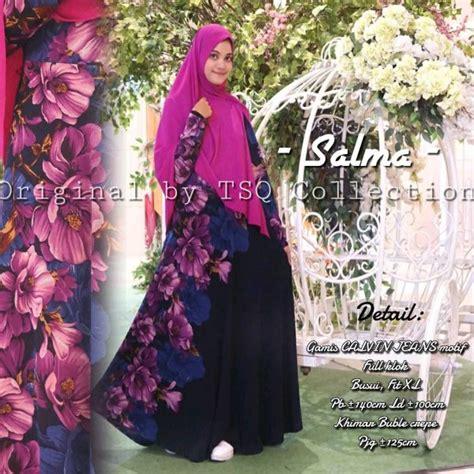 Gamis Calvin Bunga gamis calvin salma syar i baju muslim ukuran besar