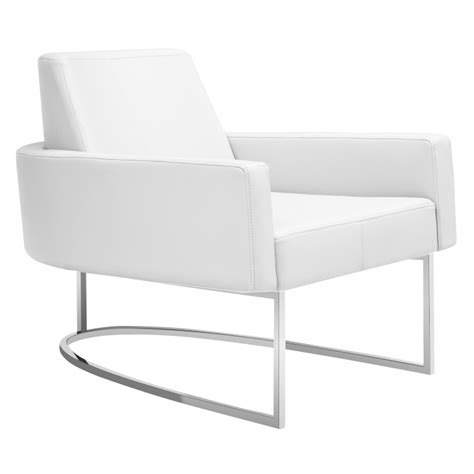 Modern White Lounge Chair modern chairs chichi white lounge chair eurway