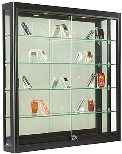 Wall Display Case   Black Finish, Ships Fully Assembled