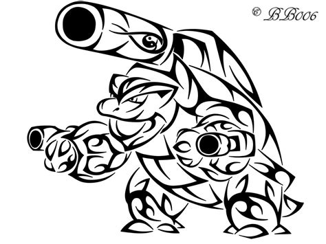 pokemon mega blastoise free colouring pages