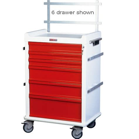 7 Drawer Cart by Mri Keyed Locking 7 Drawer Cart With Anesthesia Pkg