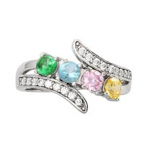 mothers birthstone rings 4 cz bypass birthstone s ring s addiction 174
