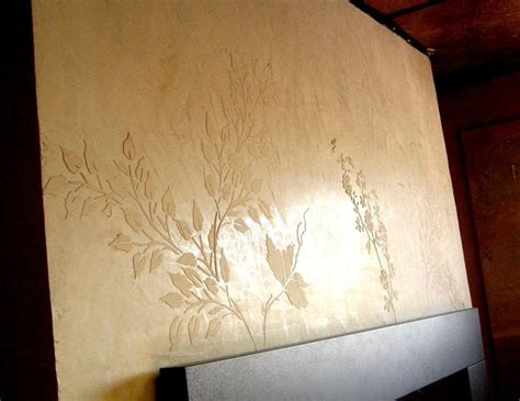 venetian plaster with raised design contemporary