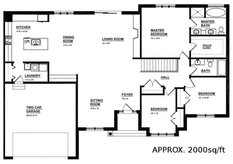open floor plan bungalow house plans open concept bungalow mibhouse com