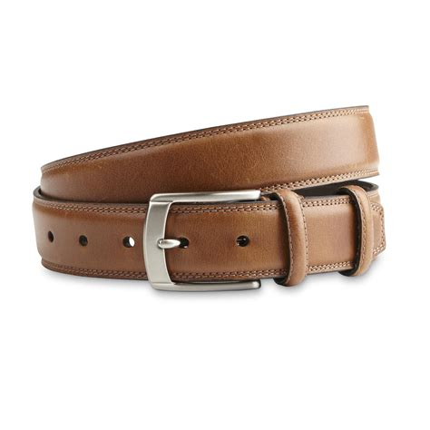Handcrafted Leather Belt - dockers s handcrafted leather belt sears