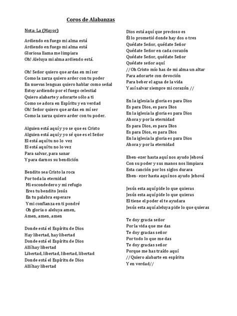 cadena de coros para orar coros de alabanzas y adoracion original docx