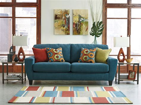 ashley furniture teal sofa teal freed s furniture