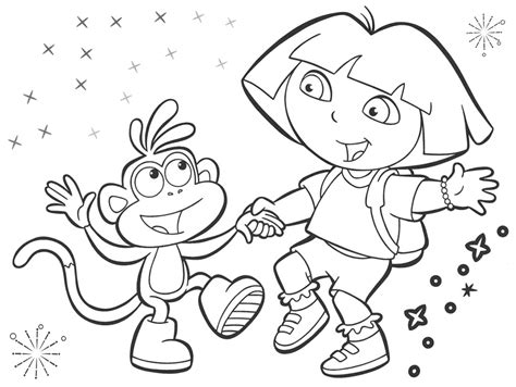 coloring pictures of dora the explorer characters dora the explorer drawings wonderful dora the explorer