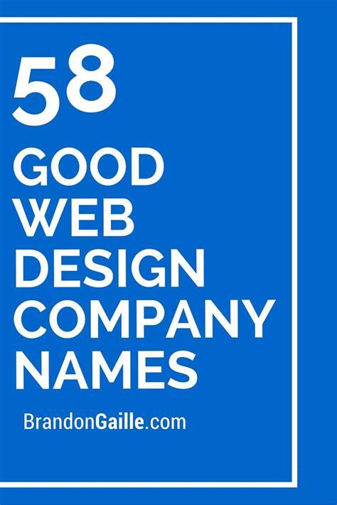 good web design company names catchy slogans