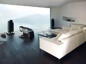 Wohnzimmer Schwarz Architecturally Striking Concrete Home With Views Of The