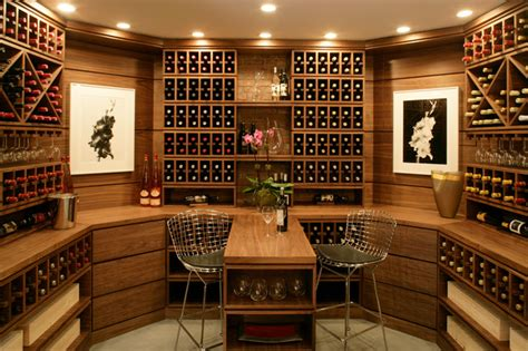 Modern Island Kitchen Designs by Hamptons Wine Amp Cigar Room