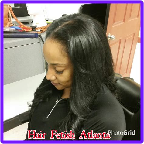 colorful sew ins middle part jet black middle part sew in hair fetish atlanta salon