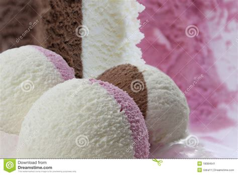 chocolate strawberry vanilla vanilla chocolate and strawberry stock image