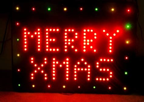 32 inch red and green led merry christmas sign make your own animated led sign embedded lab