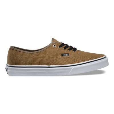 Vans Authentic Jute Walnut Black jute authentic shop classic shoes at vans