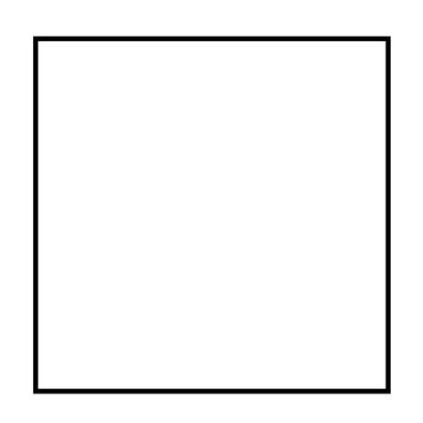 square nape line on black person basic square outline transparent png svg vector