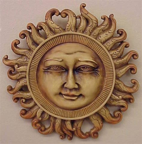 celestial sun home wall decor sculpture mask 12090