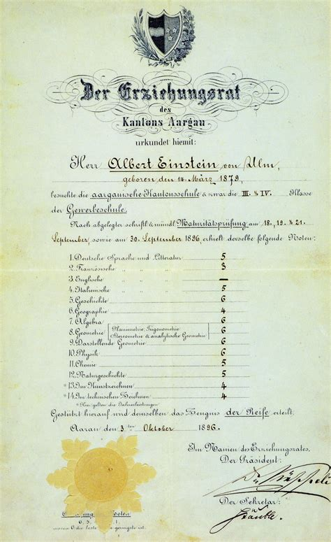 Ulm Gold Mba by File Albert Einstein S Of Maturity Grades Color2
