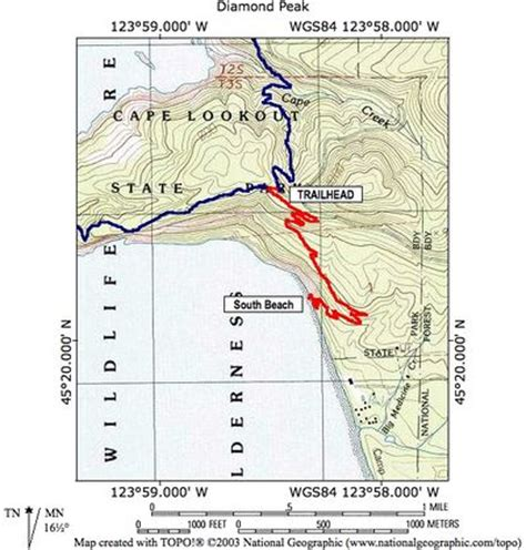 map of oregon lookouts cape lookout south hike hiking in portland oregon and washington