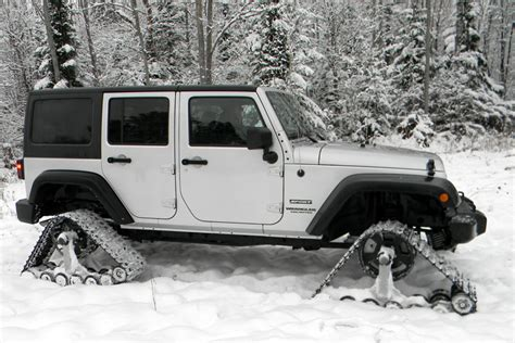 jeep snow tracks american track truck