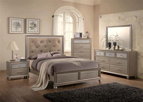 lila champagne bedroom set  crown mark