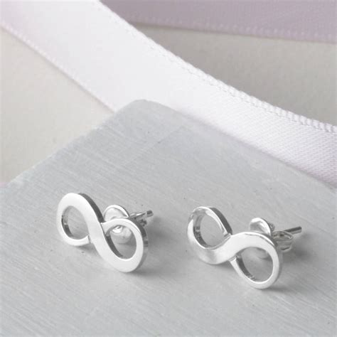 infinity sterling silver stud earrings by tales from the