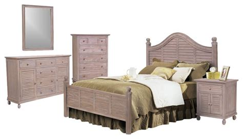 tropical bedroom furniture sets tortuga driftwood white 5 pc tropical bedroom set