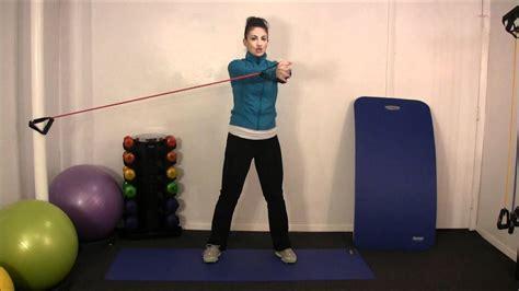 exercise   week oblique twists  resistance bands