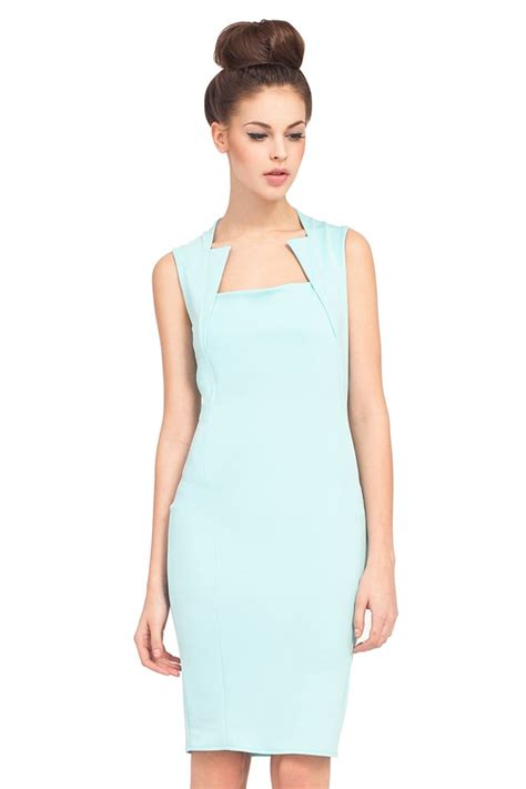 what is a neckline cut mint mouret cut out neckline shift dress