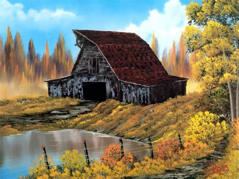 bob ross painting buildings colorful landscape paintings by bob ross from america