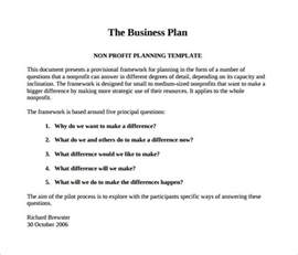 business plans free templates non profit business plan template 18 free word pdf