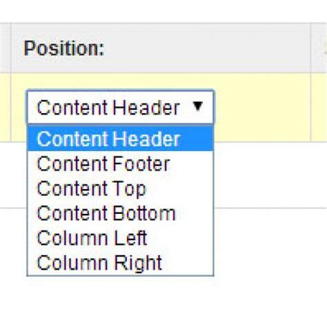 design header opencart new layout position