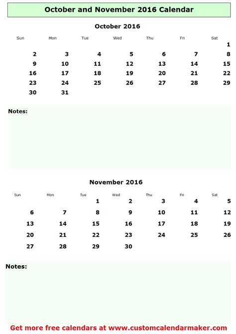 Calendar May June 2015 October And November 2016 Calendar Free Printable Template
