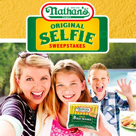 Famous Sweepstakes - nathan s famous original selfie sweepstakes thrifty momma ramblings