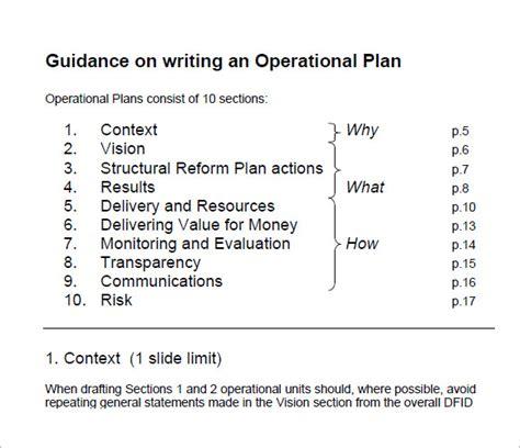 operating budget samples sample templates