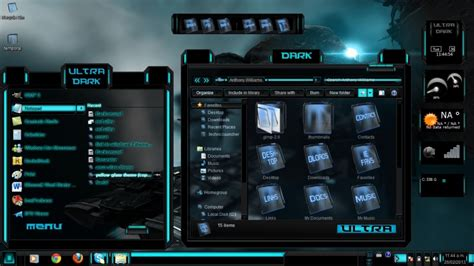 theme windows 7 electric blue theme ultra dark theme windows 7 by toxicosm on