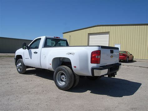 2012 chevrolet 1 ton 3500 reg cab white dually for sale in