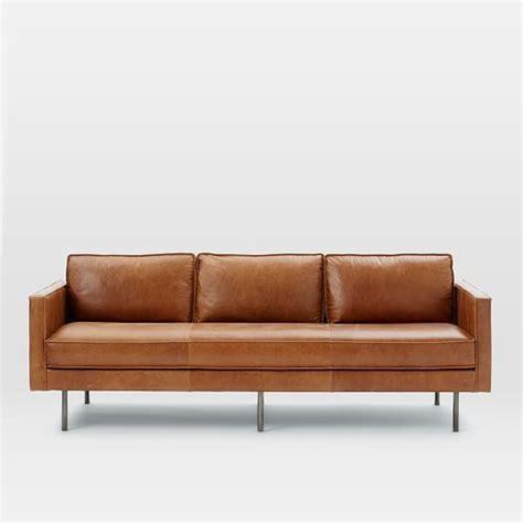 quality of west elm sofas axel leather sofa west elm http www bocadolobo com