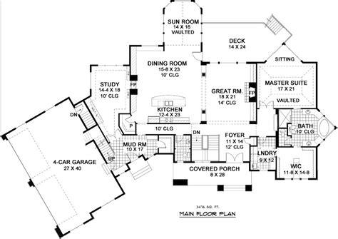 nantucket floor plan nantucket 9668 5 bedrooms and 4 baths the house designers