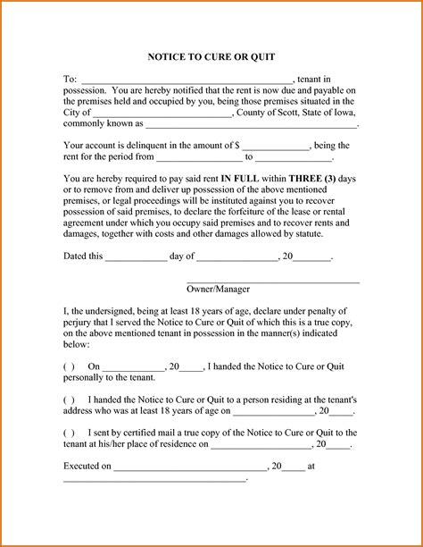 10 how to right a notice letter lease template