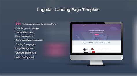 lugada html5 landing page template