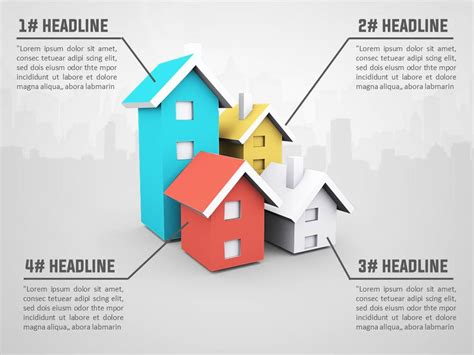 3d House Real Estate Powerpoint Template Slidesbase Real Estate Chatbot Template