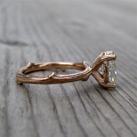 twig ring on pinterest branch ring twig engagement oval moissanite twig engagement ring side via 7