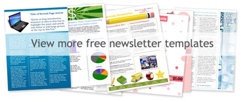 free newsletter templates downloads for word free word newsletter templates