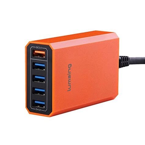 Charger 40w Fast Charging 4 Usb Port A2142621 Olb1792 lumsing charge 2 0 40w multi port usb desktop charging import it all
