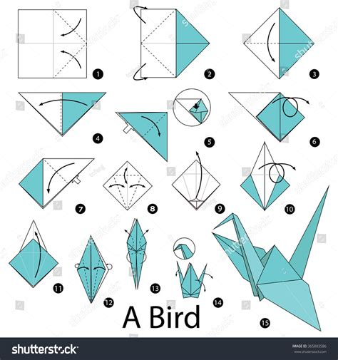 Origami Terminology - step by step how to make origami a bird