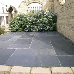 slate paving slabs and patio on