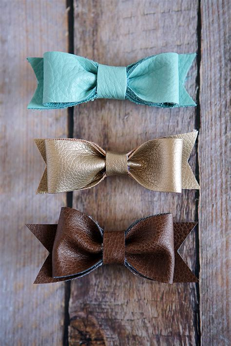 diy hairstyles bow diy leather hair bows cute girls hairstyles