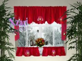 Plaid Kitchen Curtains Valances Christmas Kitchen Curtains Ideas Home Design Ideas